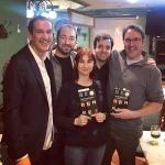 Con Roberto Santiago, Nando López, David Lozano y Jorge Gómez Soto, Madrid, 2018