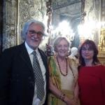 Con Soledad Puértolas y Antonio García Teijeiro, Palacio Real, 2018