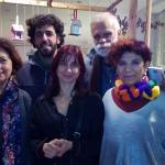 Con Ana Alcolea, Marisa López Soria, Gonzalo Moure y Pablo Caracol