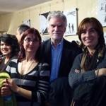 Con Margarita García Gallardo y santiago García Clairac, 2016