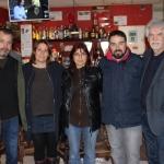 Con Jose Carlos Atienza, Maria José Hervas, Javier Fernández y Santiago García Clairac