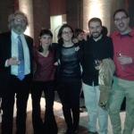 Con Jesús Díez de Palma, Elena Moreno, Javier Fernández y Jorge Gómez Soto